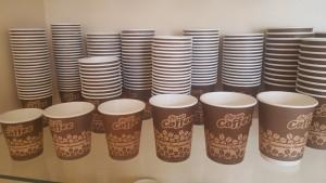 Изготовление одноразовых бумажных стаканчиков для кофе с