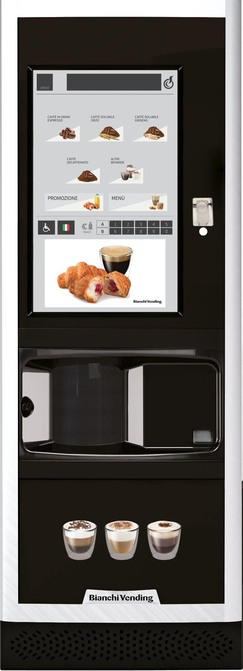Кофейный автомат Bianchi LEI 700 ES 7 TOUCH 67х183 (зерн. кофе+6 растворимых)