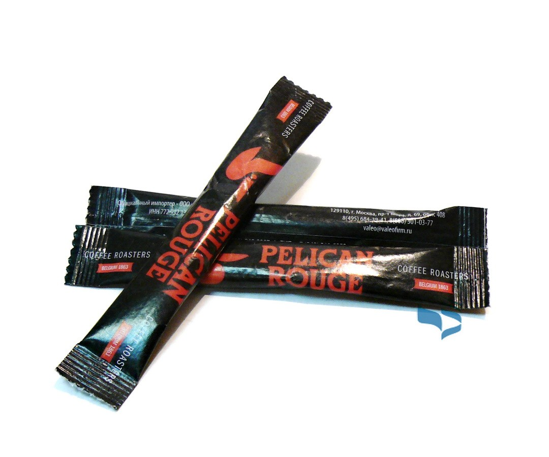 Сахар в стике PELICAN ROUGE с логотипом 5г х 2000шт