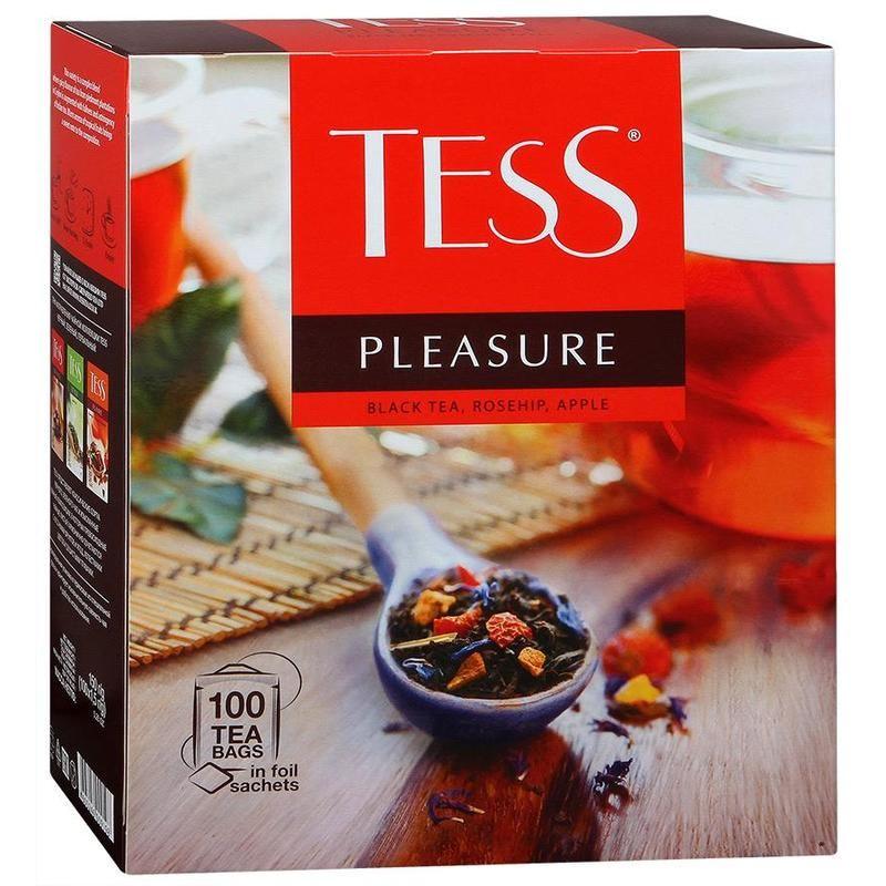 Чай TESS в ассортименте , 100 пакетиков по 1.5 г